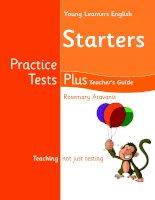 Practice tests plus starters TB