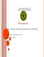 """tiểu luận kinh tế phát triển Tổng số vốn đầu tư thực hiện ở Việt Nam (2001-2010)"""""""