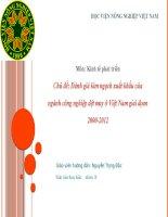 tiểu luận kinh tế phát triển Đánh giá kim ngạch xuất khẩu của ngành công nghiệp dệt may ở Việt Nam giai đọan 2000-2012