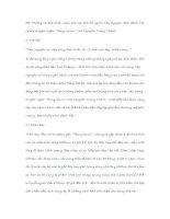 """Đề: Những vẻ đẹp khác nhau của các thế hệ người Tây Nguyên thời đánh Mỹ trong truyện ngắn """"Rừng xà nu"""" của Nguyễn Trung Thành"""