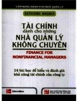 tài chính dành cho nhà quản lý tập 1  katherine wagner