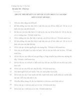 120 CÂU HỎI ĐỂ KẾT CẤU ĐỀ THI TUYỂN BSNT VÀ CAO HỌC MÔN CƠ SỞ: MÔ HỌC