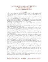 Đề cương sinh lý động vật 2(nguồn Đinh Công Trưởng)