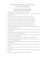 120 CÂU HỎI THI VÀO CAO HỌC NĂM 2013 MÔN CƠ SỞ: KHOA HỌC MÔI TRƯỜNG