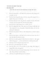 CÂU HỎI ÔN THI TUYỂN SINH BÁC SĨ NỘI TRÚ 2013