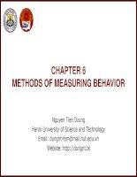 CHAPTER 6METHODS OF MEASURING BEHAVIOR