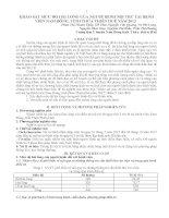KHẢO SÁT MỨC ĐỘ HÀI LÒNG CỦA NGƯỜI BỆNH NỘI TRÚ TẠI BỆNH VIỆN NAM ĐÔNG, TỈNH THỪA THIÊN HUẾ NĂM 2012