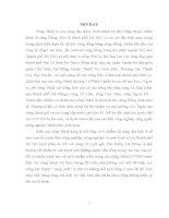 'NGHIÊN CỨU XÁC ĐỊNH HÀM LƯỢNG CÁC KIM LOẠI NẶNG ĐỒNG, CHÌ, CADIMI TRONG NƯỚC BỀ MẶT SÔNG NHUỆ BẰNG PHƯƠNG PHÁP PHỔ HẤP THỤ NGUYÊN TỬ DÙNG NGỌN LỬA (FAAS)