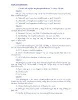Ngân hàng câu hỏi trắc nghiệm kỳ thi tuyển công chức xã, phường, thị trấn thành phố Hà Nội năm 2013: Câu hỏi trắc nghiệm tư pháp hộ tịch