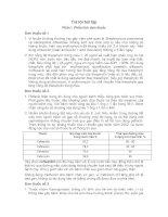 BÀI tập TRẢ lời PHẦN i PHÂN TÍCH đơn THUỐC
