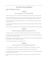 Hệ thống câu hỏi ôn tập môn tài chính doanh nghiệp 2