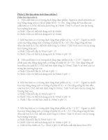 Câu hỏi và bài tập phân tích thực phẩm