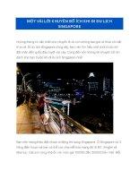 Một vài lời khuyên bổ ích khi đi du lịch Singapore