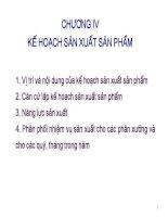 Bài giảng kế hoạch doanh nghiệp  chương 4   kế hoạch sản xuất sản phẩm