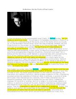 Reflections On the Work of Paul Auster