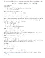 Đề cương ôn tập toán học kì II lớp 11 môn toán