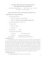 CHƯƠNG TRÌNH ĐÀO TẠO TRÌNH ĐỘ THẠC SĨ Chuyên ngành: Luật hình sự và tố tụng hình sự