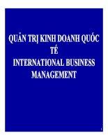 Bài giảng quản trị kinh doanh quốc tế (international business international business managementmanagement)   chương 1  tổng quan về kinh doanh quốc tế