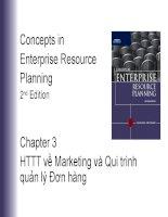 Bài giảng concepts in enterprise resource planning (2nd edition)   chương 3  hệ thống thông tin về marketing và quy trình quản lý đơn hàng