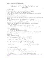 Đề cương ôn tập học kì 2 môn toán