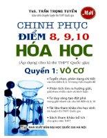 chinh phục điểm 8, 9, 10 hóa học phần vô cơ