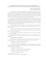 MỘT SỐ ĐÁNH GIÁ VÀ ĐỀ XUẤT XÂY DỰNG CƠ SỞ DỮ LIỆU ĐẤT ĐAI PHỤC VỤ CÔNG TÁC QUY HOẠCH, KẾ HOẠCH SỬ DỤNG ĐẤT