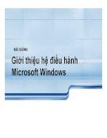 Bài giảng giới thiệu hệ điều hành microsoft windows   th s mai anh thơ