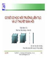 Bài giảng cơ sở cơ học môi trường liên tục và lý thuyết đàn hồi  chương 3   lý thuyết về ứng suất