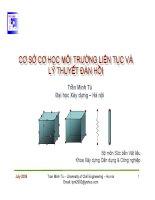 Bài giảng cơ sở cơ học môi trường liên tục và lý thuyết đàn hồi  chương 2   một số khái niệm cơ bản về đại số ten xơ