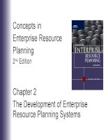 Lecture concepts in enterprise resource planning (2nd edition)   chapter 2  the development of enterprise resource planning systems