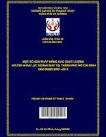 Một số giải pháp nâng cao chất lượng nguồn nhân lực ngành may tại thành phố hồ chí minh giai đoạn 2005   2010