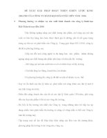 ĐỀ XUẤT GIẢI PHÁP HOÀN THIỆN CHIẾN LƯỢC KINH DOANH CỦA CÔNG TY BÁNH KẸO HẢI CHÂU ĐẾN NĂM 2016