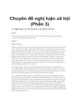 Chuyên đề: Nghị luận xã hội (p3)