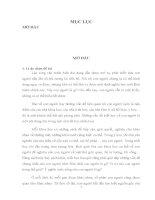 """Đề cương chi tiết luận văn: Quan niệm về con trong triết học Mác – Lênin và sự tha hóa nhân cách con người trong xã hội phong kiến qua tác phẩm """"Chí Phèo"""" của nhà văn Nam Cao"""