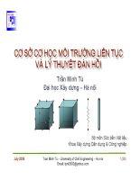 Bài giảng cơ sở cơ học môi trường liên tục và lý thuyết đàn hồi  chương 6   lý thuyết đàn hồi tuyến tính