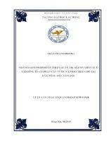 Giải pháp hoàn thiện quản trị nguồn nhân lực tại Công ty Cổ phần Cấp nước và Phát triển Đô thị tỉnh Đắk Nông