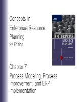 Lecture concepts in enterprise resource planning (2nd edition)   chapter 7  process modeling, process improvement, and ERP implementation