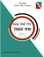 Giải đề thi toeic 990 phần 4
