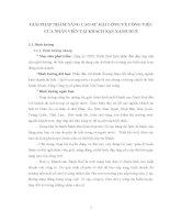 GIẢI PHÁP NHẰM NÂNG CAO SỰ HÀI LÒNG VỀ CÔNG VIỆC CỦA NHÂN VIÊN TẠI KHÁCH SẠN XANH HUẾ