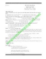 BỘ ĐỀ THI VÀO LỚP 10 MÔN NGỮ VĂN CÓ ĐÁP ÁN MỚI NHẤT ĐÃ THẨM ĐỊNH (PHẦN 4)