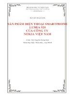Bản kế hoạch PR sản phẩm điện thoại smartphone lumia 920 của công ty nokia việt nam