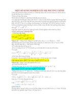 Một số hướng tư duy mới giải hệ phương trình