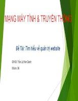 Tìm hiểu về quản trị website- MẠNG MÁY TÍNH & TRUYỀN THÔNG