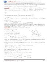Tổng hợp các dạng toán về phương trình đường thẳng trong các đề thi (có lời giải)