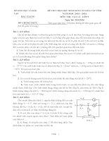 3  đề thi HSG chọn lọc Vật Lý 9 có đáp án chi tiết năm học 2015  2016