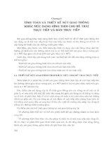 Chương 6TÍNH TOÁN VÀ THIẾT  KẾ  NÚT GIAO THÔNG KHÁC MỨC  DẠNG  HÌNH THOI  CHO  RẼ  TRÁI TRựC  TIẾP  VÀ  BÁN  TRựC  TIEP
