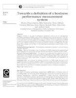 Towards a definition of a business performance measurement system đo lường kết quả hoạt động kinh doanh