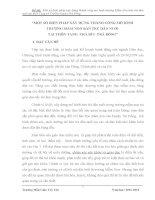 MỘT SỐ BIỆN PHÁP XÂY DỰNG THÀNH CÔNG MÔ HÌNH  TRƯỜNG MẦM NON BÁN TRÚ DÂN NUÔI  TẠI THÔN TANG TRÀ BÙI TRÀ BỒNG
