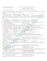 Tuyển chọn 25 bộ đề luyện thi THPT quốc gia môn Hóa học (chương trình cấp tốc)