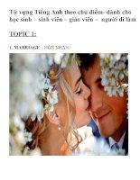 Tuyển tập từ vựng tiếng anh chủ đề  hôn nhân  ( marriage)